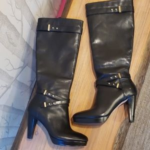 Cole Haan Black Leather Boots Nike Air 7 .5 B